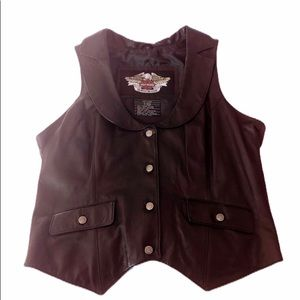 Ladies Harley Davidson Leather Vest